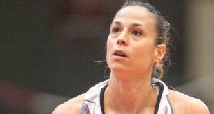 Nuria Martinez, play di Schio, per lei 11 punti contro Umbertide