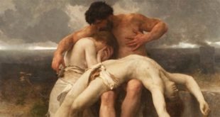 """Il primo lutto"" - Dipinto di William-Adolphe Bouguereau (1888), olio su tela"
