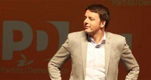 Matteo Renzi in una sua visita a Vicenza, nel maggio del 2015, al Teatro Comunale
