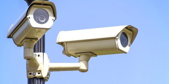 Telecamere di sorveglianza, immagine d'archivio