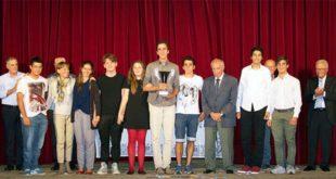 Nella foto i vincitori dell'edizione 2015, i ragazzi dell'istituto Rossi di Vicenza