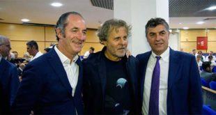 Da sinistra: Luca Zaia, Renzo Rosso e Giorgio Roberti