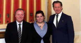 Da sinistra: Sergio Berlato, Marika Poletti e Fabio Scoccimarro