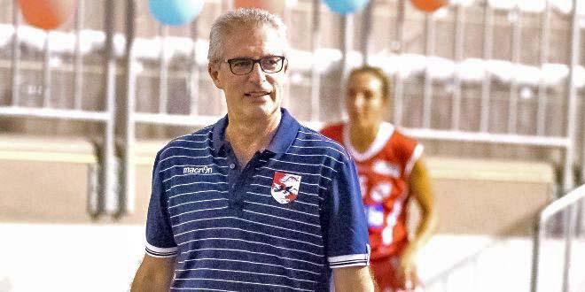 Alberto Pan, vice allenatore della VelcoFin Vicenza. Foto di Matthew Smith