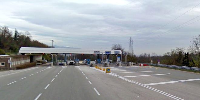 Il casello del tunnel che collega Schio e Valdagno