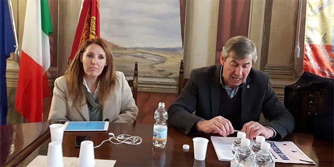 L'assessore Elena Donazzan e il sindaco di Recoaro, Giovanni Ceola