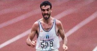 Gelindo Bordin, qualche istante prima di vincere l'oro olimpico, a Seul, nel 1988