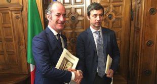 Il presidente della Regione Veneto Luca Zaia (a sinistra) ed il Ministro della Giustizia Andrea Orlando