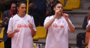 Bestagno, a sinistra, e Zandalasini, a destra, protagoniste del vittorioso match con Battipaglia