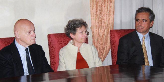 Da sinistra: Ilvo Diamanti, Giovanna Grossato e Andrea Valmarana