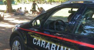 Alcuni controlli eseguiti dai carabinieri a Campo Marzo. Immagine di repertorio