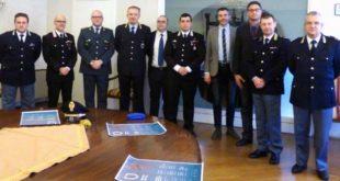 """Il sindaco Poletto e l'assessore Vernillo con i rappresentati delle forze dell'ordine che partecipano a """"Bassano sicura"""""""