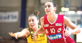 Con 23 punti Tina Jakovina è stata la miglior realizzatrice biancorossa nella gara con Salerno