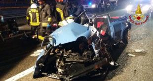 L'incidente in A4, costato la vita a due persone