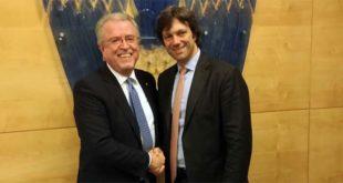 Cambio della guardia in Confidustria Veneto... Da sinistra: Roberto Zuccato e Matteo Zoppas