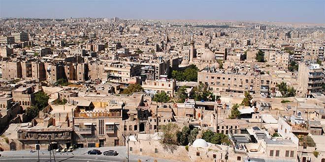 Una veduta della città siriana di Aleppo