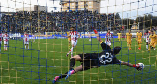 Il gol della bandiera del Vicenza. Lo segna Pucino, su rigore, allo scadere