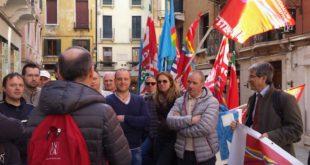 Parte della delegazione sindacale presente a Venezia