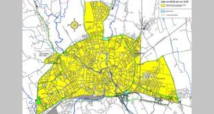 In giallo, le aree di Vicenza chiuse al traffico nella domenica senz'auto