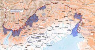 La mappa del fronte italiano della Grande Guerra. Immagine di CortoFrancese (CC BY-SA 4.0)