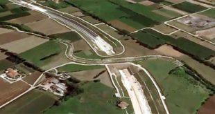Un tratto ancora in costruzione della Pedemontana Veneta