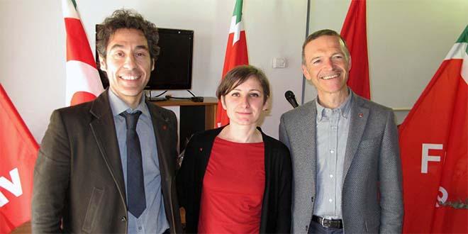Da sinistra: Giancarlo Puggioni, Giulia Miglioranza, Giampaolo Zanni