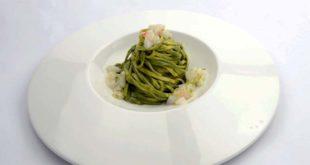 """""""Tagliolini al tarassaco con battuta di capasanta"""", chef Elvis Pilati"""