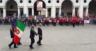 La celebrazione, del 25 aprile, lo scorso anno a Vicenza