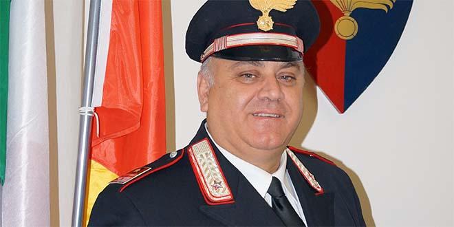 l luogotenente Vito Sitran, comandante della stazione carabinieri di Bassano del Grappa
