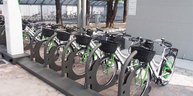 Il Bicipark della stazione ferroviaria di Vicenza