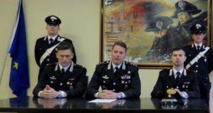 Da sinistra, il sottotenente dei Carabinieri Seracini, il capitano Rossetti e il maresciallo Ruggiero