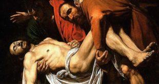 Caravaggio, Deposizione (particolare), 1602-1604. Musei Vaticani, Roma.