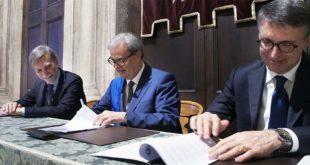 Da sinistra: Graziano Delrio, Achille Variati e Raffaele Cantone