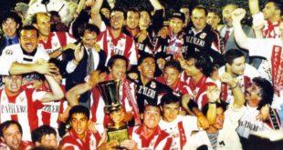 La conquista della Coppa Italia nella stagione 1996/1997