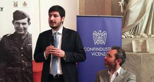 Eugenio Calearo Ciman (a sinistra) ed accanto a lui il presidente uscente Andrea Stella