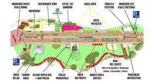 La mappa del nuovo allestimento di Festambiente Vicenza, a Campo Marzo