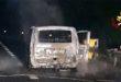 Furgone va a fuoco sull'autostrada A4