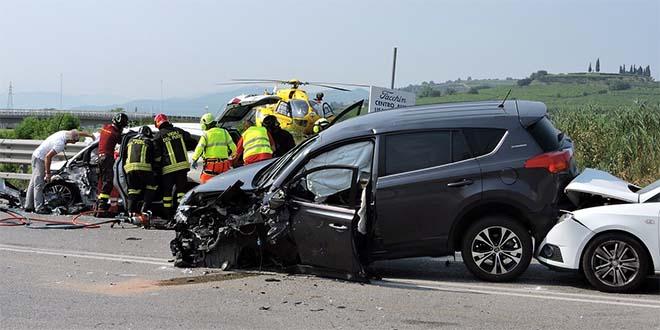 Un incidente stradale, immagine di repertorio