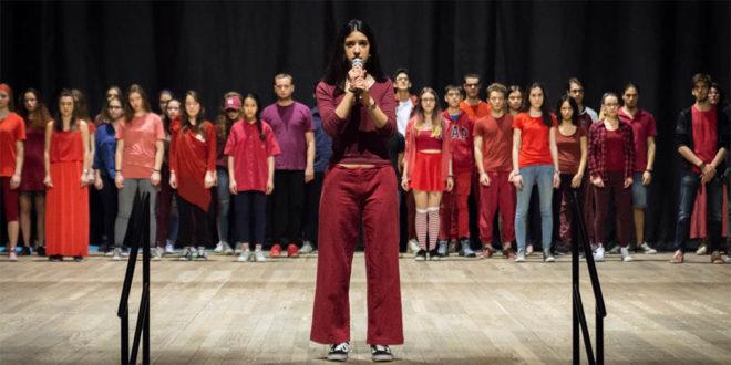 I ragazzi del laboratorio teatrale Campus Company di Schio (Foto di Luigi De Frenza)
