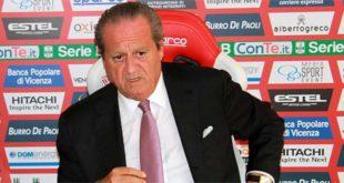 Il presidente del Vicenza Calcio Alfredo Pastorelli