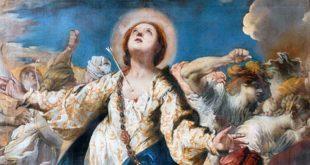 Particolare del dipinto di Francesco Maffei, restituito all'Ipab 32 anni dopo il furto