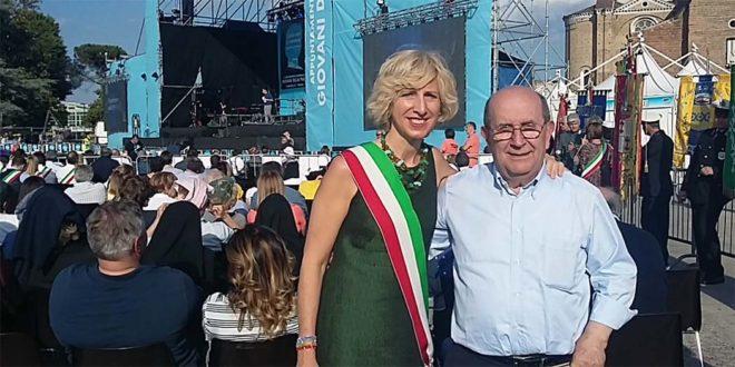 Isabella Sala con Ernesto Olivero