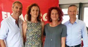 Da sinistra Stefano Garbin, Cinzia Lanaro, Chiara Canton e Giampaolo Zanni