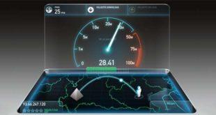 Un screenshot del sito Speedtest.net by Ookla, per misurare la velocità della connessione ad Internet