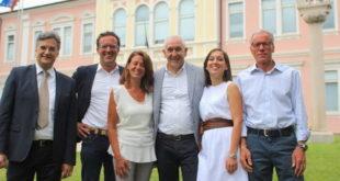 La giunta comunale di Rosà. Da sinistra: Vivian, Bizzotto, Grandotto, Bordignon, Mezzalira e Poggiana