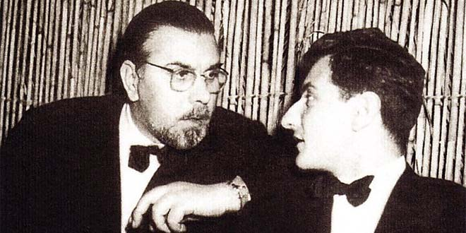 Neri Pozza assieme ad un giovane Goffredo Parise
