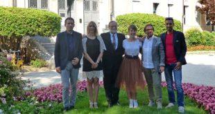 La nuova giunta comunale di Thiene. Da sinistra Samperi, Strinati, Casarotto, Binotto, Michelusi e Zorzan