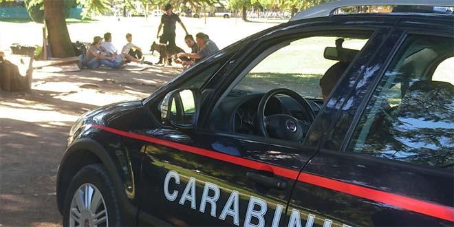 Carabinieri impegnati in un servizio di controllo a Campo Marzo, immagine di repertorio