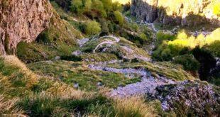 Un tratto del sentiero Val Fontana d'oro