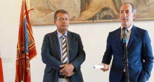 Da sinistra: l'assessore regionale alla sanità, Luca Coletto, ed il presidente della Regione Veneto Luca Zaia